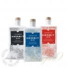 Herbit Gin Miniatures Gift Set - 100ml Blue Dragon, Red Lantern and New Black