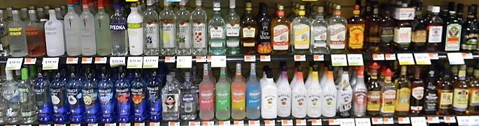 Selection of bottles